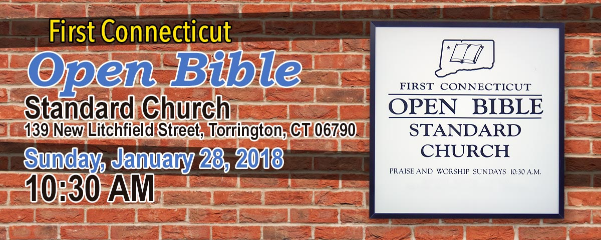 Christopher White Speaking at First Connecticut Open Bible Standard Church